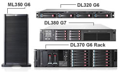 HP ProLinat mid-range servers